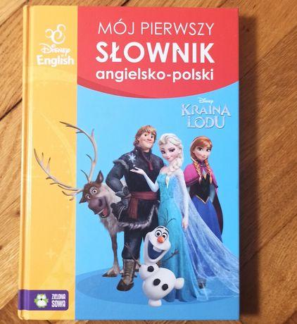 Książka dla dzieci -moj pierwszy słownik ang-polski , kraina lodu
