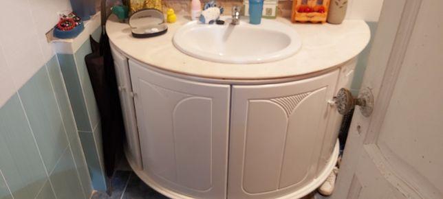 Movel wc com pedra marmore