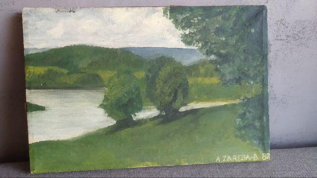 Obraz pejzaż A. Zaręba - B. 1987