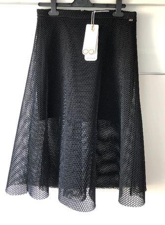 Spódnica czarna Waggon Paris z siateczką rozmiar L