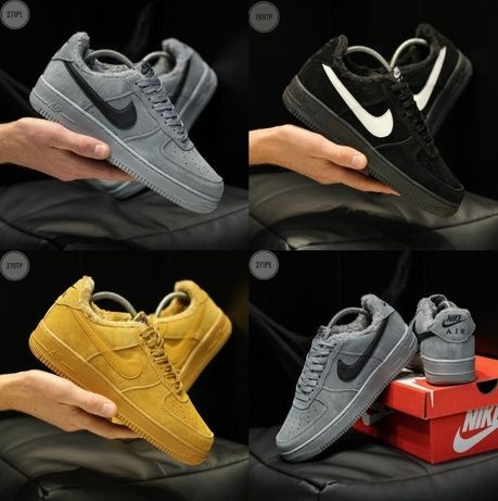 Кроссовки Nike Air Force 1 Low Fur 40-45 найк аир форси - топ!