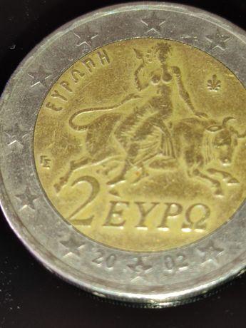 Moeda Rara de 2€ Grécia 2002