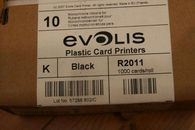 Evolis – Taśma barwiąca Czarna ( R2011 ) na 1000szt. kart