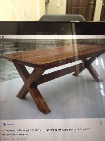 Продаю деревянный садовый стол