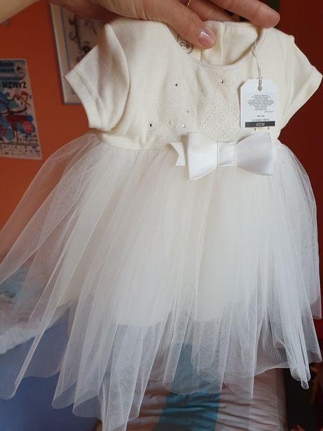 Sukienka ecru plus bolerko 62 NOWA!!!
