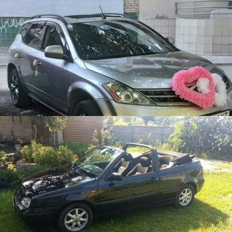 Прокат аренда Авто джип или кабриолет на свадьбу не дорого перевозка