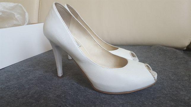 Buty ślubne białe skóra La Boda rozmiar 36