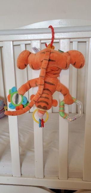 Disney Тигра развивающая погремушка подвеска вибрирует в кроватку
