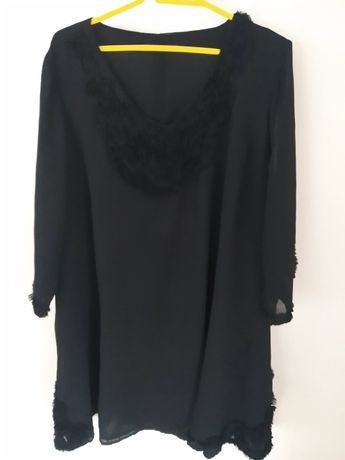 ALMIA - Wyjątkowa Elegancja - Czarna - trapez TUNIKA - rozm. 5 2