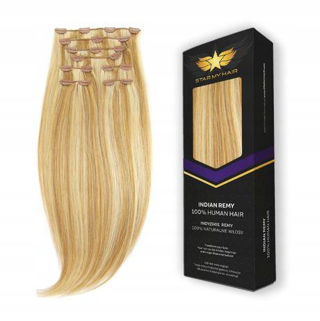 Doczepiane Włosy naturalne clip-in Zestaw 8 tresek 60cm 240g