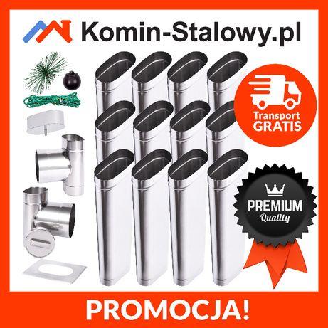 Wkłady Kominowe Owalne do Komina Fi100x210/8m/0,8mm Kwaso-żarooodporny