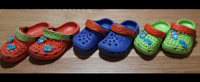 Gumowe klapki dla dzieci, wkładka 13 i 14 cm