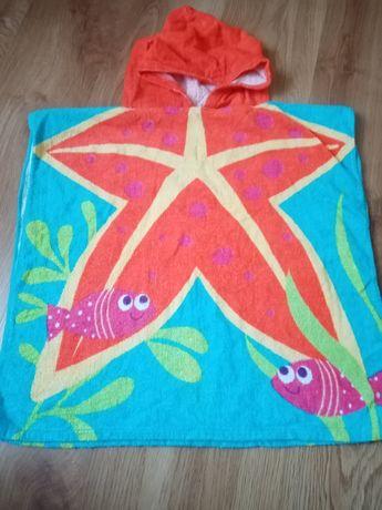 Ręcznik ponczo z kapturem