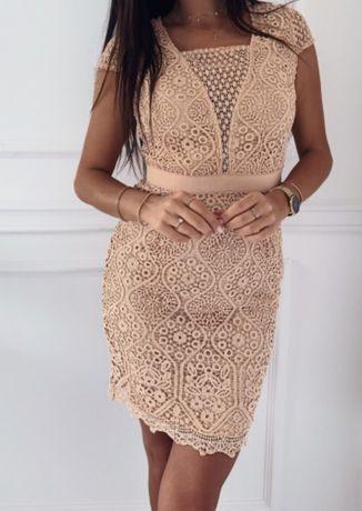 Sukienka brudny roz 36 (S)