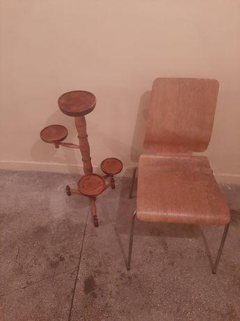 Krzesło, taboret I kwietnik