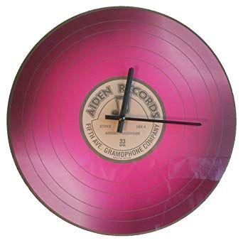Часы настенные в форме грампластинки