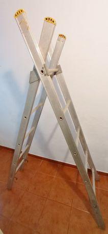 Escada 3 metros duas peças alumínio