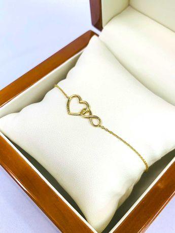 Złota bransoletka pr.333 - Plus Lombard
