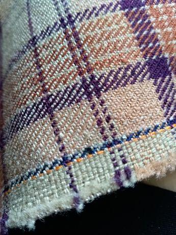 Solidna tkanina w kratę na uszytki