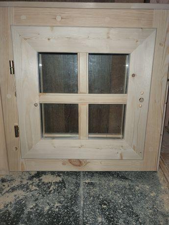 Okno drewniane 55 x 55