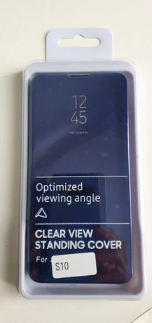 Clear View Case futerał etui z klapką Samsung Galaxy S10 niebieski