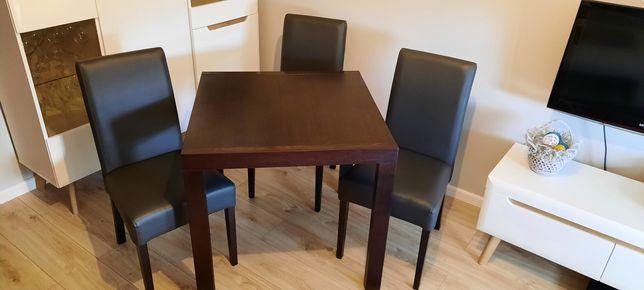 4 #krzesła #stół 80x80 rozkładany