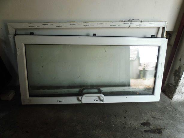 Dzwi nowe lewe bialo brazowe szer 106 x210