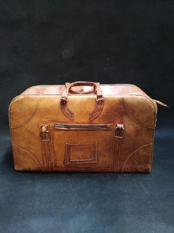 Torba walizka skórzana Vintage 100%skóra