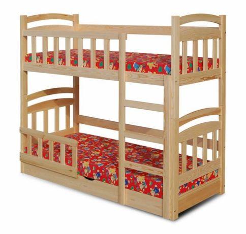 Drewniane łóżko piętrowe dla dzieci Michał z szufladami plus materace!