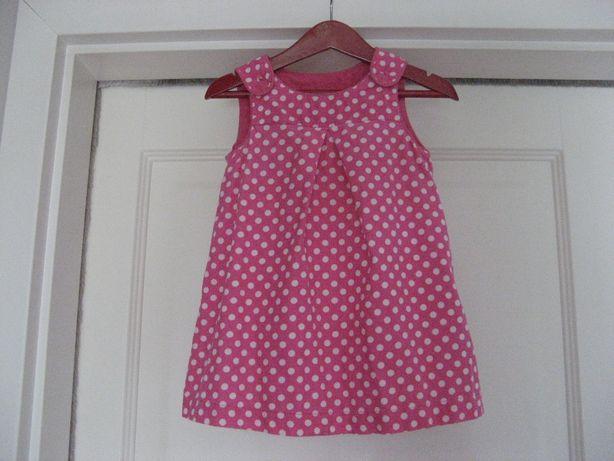 Sukienka H&M 100% bawełna groszki 12-18m