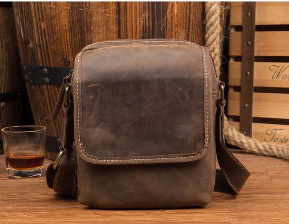 Кожаная мужская сумка через плече, на каждый день. Натуральная кожа