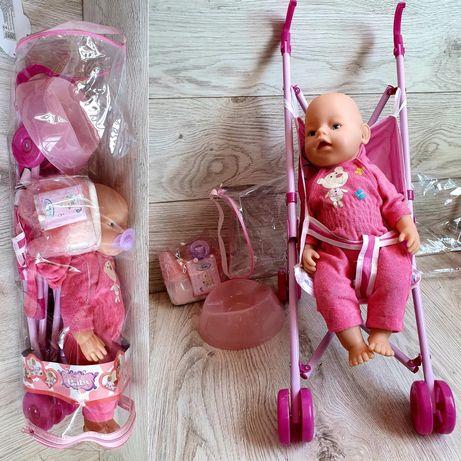 Пупс с коляской и аксессуарами, пупс с коляской, коляска для куклы