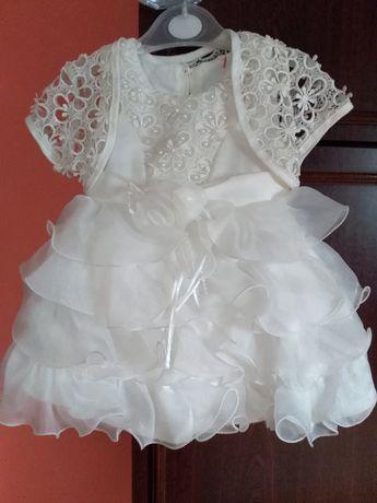sukienka do chrztu bardzo śliczna+dodatki