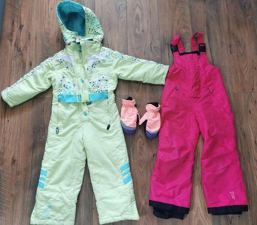 Cool Club kombinezon 116, spodnie narciarskie 110/116, rękawiczki