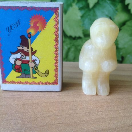 Статуэтка обезьяны из натурального камня цитрина Ручная Работа