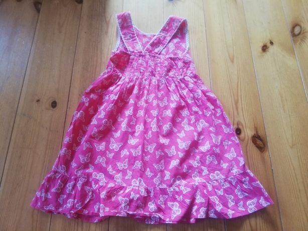 Piękna sukienka, r. 110, odkryte plecy, YD, jak nowa