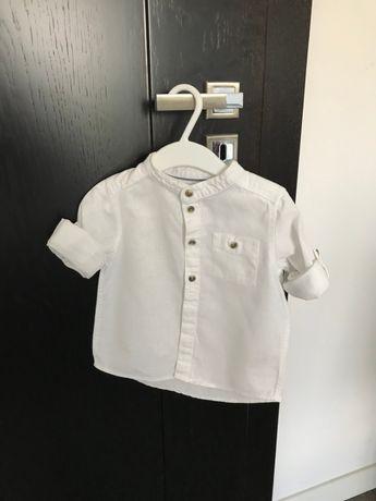 Biała koszula z stójką - firma H&M - rozm. 74