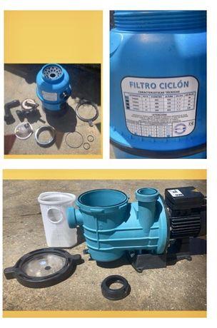 Filtro Areia + Bomba 0,5 cv - Piscina