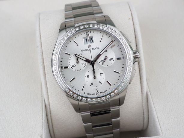 Женские новые часы Maurice Lacroix Miros Diamond Chronograph 38 мм