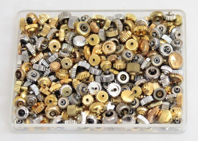 Lote / Sortido Coroas Suiças para Relógios de Pulso Novas Stock Antigo