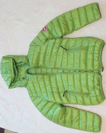 Куртка женская, подростковая, зелёная курточка