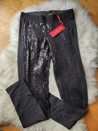Błyszczące, czarne legginsy Yamamay, nowe z metką