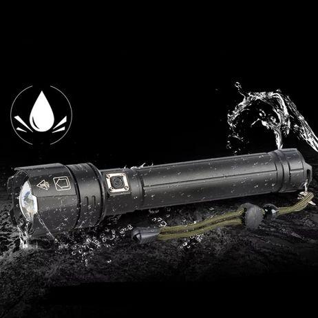 Lanterna potente Led XHP.90.2 12000lúmens (incluí 2x baterias) Novo