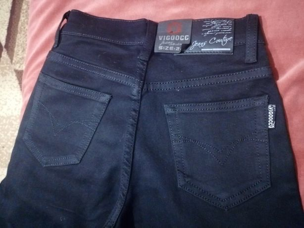 Джинсы, брюки чёрные для девочки, школьницы