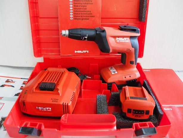 HILTI SD 5000-A22 wkrętarka plyty GK drewno bateria 22v ladowarka