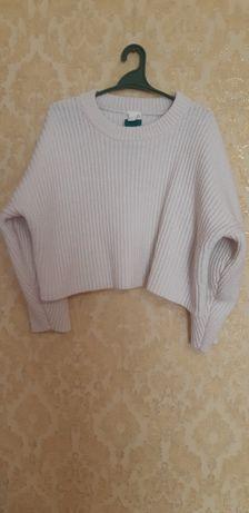 укороченный свитер h&m