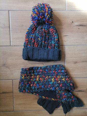 Komplet zimowy czapka, szalik firmy next 1-2lata