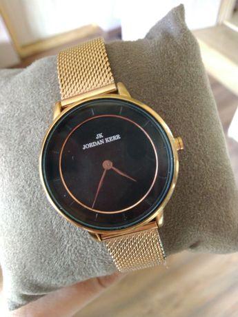 Zegarek Jordan Kerr stal nierdzewna złoty mesh bransoleta