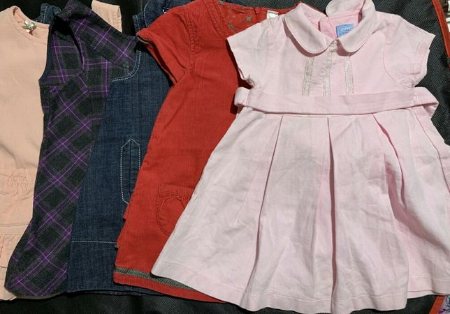 6 vestidos, 12 aos 24 meses