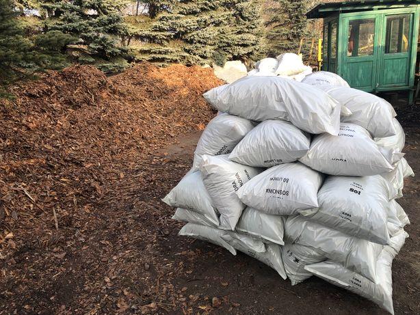 Kora średnia w workach 80 l dowóz, sosnowa ogrodowa pakowana
